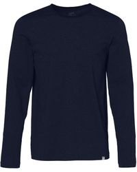 CARE OF by PUMA Long Sleeve Cotton T-shirt - Blue