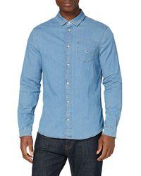 Tommy Hilfiger Tjm Stretch Shirt Camicia - Blu