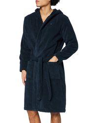 Tommy Hilfiger Icon Hooded Bathrobe Peignoir - Bleu