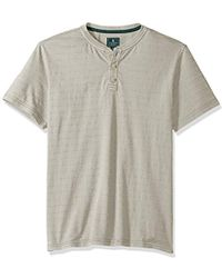 G.H.BASS - Jack Mountain Textured Jersey Short Sleeve Henley - Lyst
