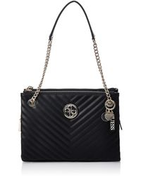 Guess Blakely Status Luxe Satchel Black