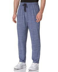HIKARO Amazon Brand Lounge Hose Pyjama Bottoms Casual Soft Hose Nachtwäsche Sleepwear Trainingsanzug Bottoms Joggers Navy Blue - Blau
