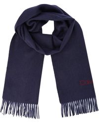 Calvin Klein Classic Wool Scarf Bufanda - Azul