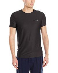 Columbia - Diamond Mesh Crew Neck Tee Shirt - Lyst