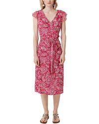 S.oliver RED Label Wickelkleid mit Musterprint pink AOP 40 - Rot