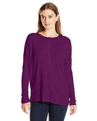 G.H. Bass & Co. - Long Sleeve Waffle Knit Top - Lyst