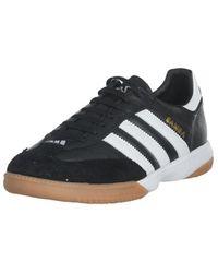 lyst adidas samba advwhite / nero / gomma indoor scarpe in