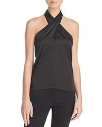 82b16e8aabefed Lyst - Theory Vinata Sartorial Off-the-shoulder Top in Black