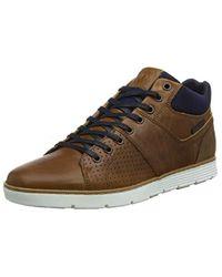 Dune Stockbridge Sneaker a Collo Alto Uomo, Marrone Tan-Leather, 41 EU