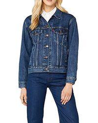Levi's Ex-Friend Trucker Giacca in Jeans Donna - Blu
