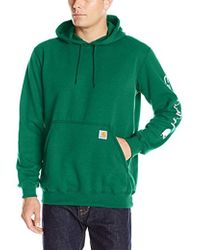 Carhartt - Signature Sleeve Logo Midweight Hooded Sweatshirt - Lyst
