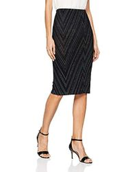 ed1cd6661 ASOS Scuba Pencil Skirt In Chevron Stripe - Multi - Lyst