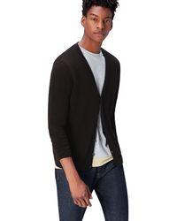 FIND Cotton Button Down Cardigan Sweater - Black