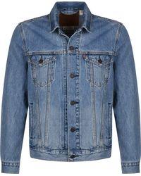 Levi's Levis Jkt Jeans Trucker Multicolor Blue Größe: L Farbe: Blue - Blau