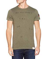 True Religion - Crew T-Shirt Overdyed, Uomo, Verde (Dusty Olive 3106), XXL - Lyst