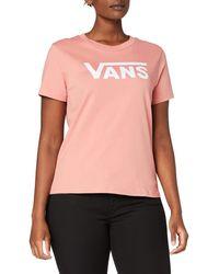 Vans Flying V Crew Tee T-Shirt - Rose
