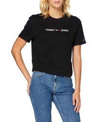 Tommy Hilfiger Tjw Modern Linear Logo Tee T-shirt - White