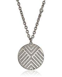 Fossil - S Chevron Glitz Pendant Necklace - Lyst