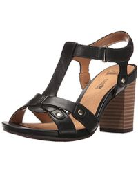 c84d858bfd8 Lyst - Clarks Banoy Tulia Women W Open-toe Leather Tan Slingback ...
