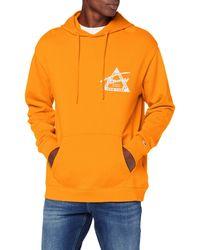 Tommy Hilfiger Tjm Graphic Washed Hoodie Felpa - Arancione
