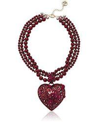 Sian Bostwick Jewellery Wonderland Painting The Roses Red Pendant 1SvCFw9