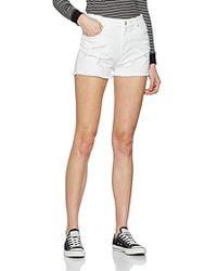 Wrangler - Boyfriend Short Damaged White Shorts - Lyst