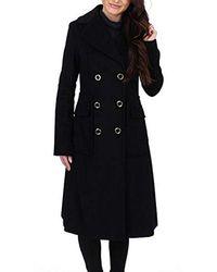 Ivanka Trump Wool Texture Double Breasted Midi W/large Pockets - Black