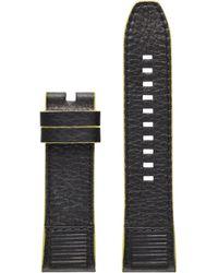 DIESEL Pasek On Full Guard Black and Yellow 24 mm - Noir