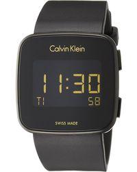Calvin Klein Digital Montre avec Bracelet en Silicone K5C214D1 - Noir