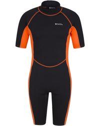 Mountain Warehouse Shorty S Wetsuit – Neoprene Swimming Wet - Orange