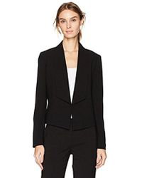 Nine West - Solid Crepe Jacket With Shawl Collar - Lyst