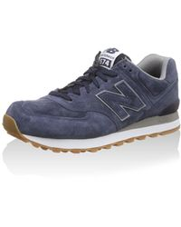 New Balance Buty 574 Zehenkappen - Blau