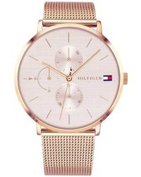 Tommy Hilfiger - S Multi Dial Quartz Watch With Rose Gold Strap 1781944 - Lyst