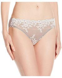 ebbb8d58cd7dd Lyst - Wacoal Embrace Lace Bikini (black) Women s Underwear