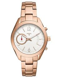 Fossil - Q Alyx Rose Gold-tone Stainless Steel Hybrid Smartwatch Ftw1168 - Lyst