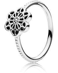 PANDORA Ring Blütenornament 925 Silber Gr. 54 (17.2)-190992-54 - Mettallic