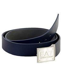 Emporio Armani Ceinture EA7 Plate - Bleu