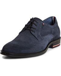 Tommy Hilfiger Signature Hilfiger Suede Shoe Derbys - Blue