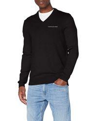 Calvin Klein Essential V Neck Sweater Maglione - Nero