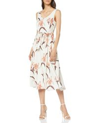 Dorothy Perkins Strappy Fit And Flare Party Dress - White