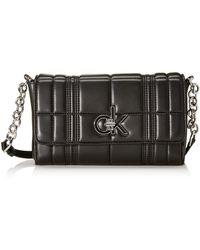 Calvin Klein RE-LOCK FLAP XBODY QMujerBolsos bandoleraNegro