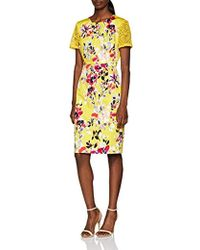 3ea6ddb89b2 French Connection Linosa Crinkle Off Sholder Maxi Dress in Yellow - Lyst