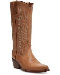 Steve Madden Cowboy Tan Leather Boot Casual 10 US - Marrone