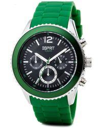 Esprit Armbanduhr XL marin Chronograph Quarz Resin ES105331007 - Grün