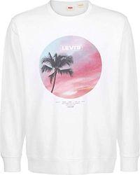 Levi's ® Graphic Crew B Sweater - Bianco