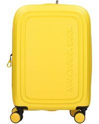 Mandarina Duck Logoduck + S Valigia trolley 4 ruote giallo