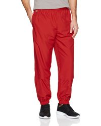Lacoste Sport Xh120t Straight Sports Trousers - Red