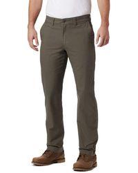 Columbia Flex Roc Comfort Stretch Casual Pant - Gray