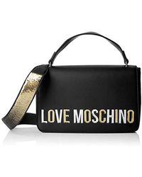 Love Moschino Damen Borsa Pu Henkeltasche, Schwarz, 7x18x29 Centimeters