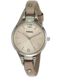 Fossil Analog Quartz Watch With Leather Strap Es2830 - Brown
